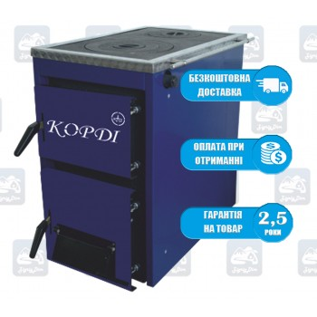 Корди АКТВ (10-16 кВт) - Твердотопливный котел-плита Kordi