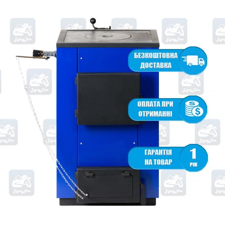 Макситерм Кантри-ПБ (12 кВт) - Твердотопливный котел-плита MaxiTerm