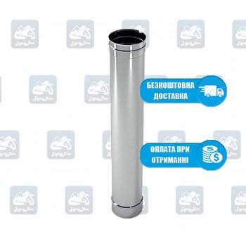 Труба 1м / 0,8 мм - нержавейка
