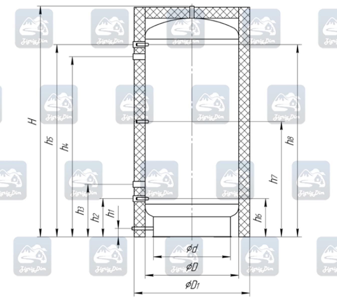 Схема теплоаакумулятора Альтеп ТА0