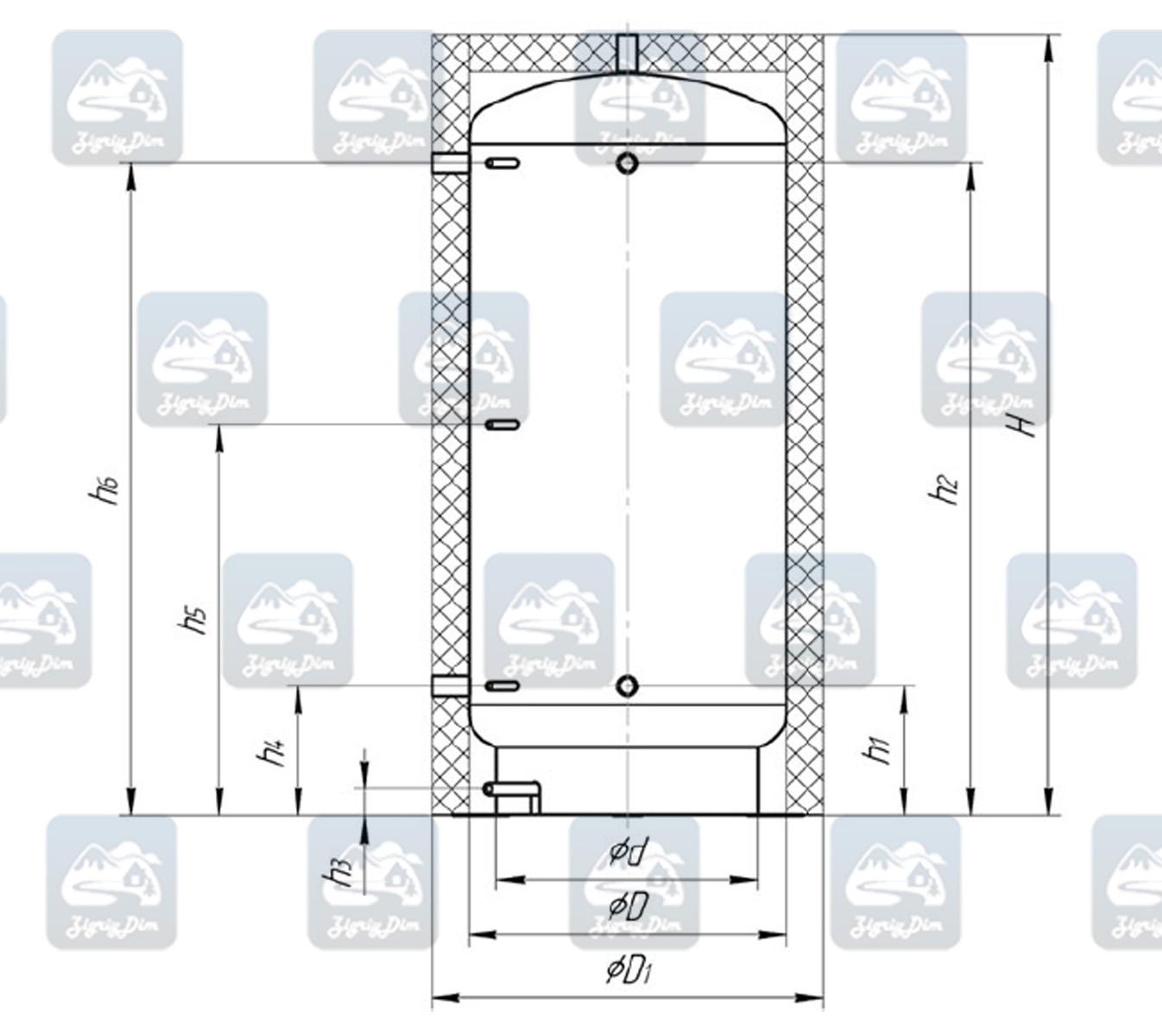 Схема теплоаакумулятора Неус ТА90-180