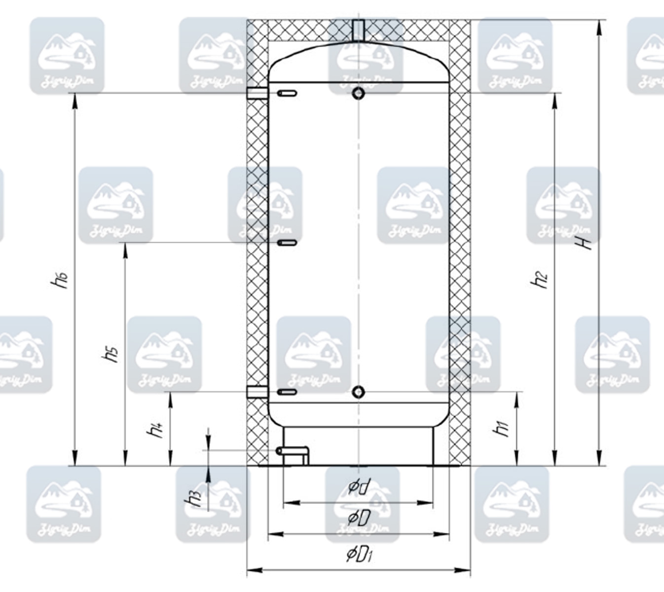 Схема теплоаакумулятора Альтеп ТА90-180