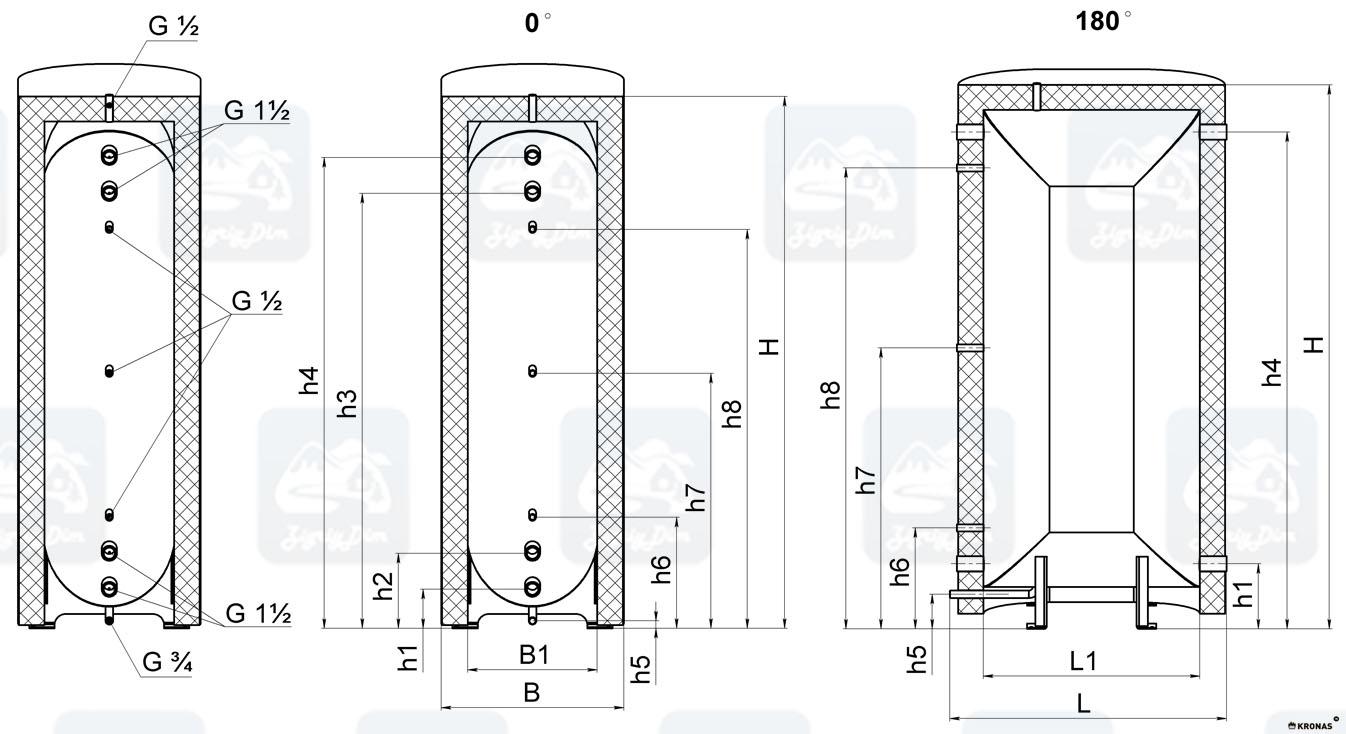 Схема плоского теплоаккумулятора Kronas ТАП