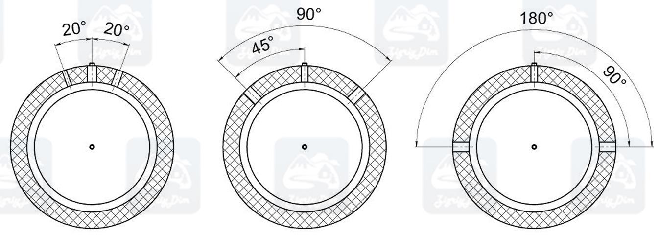 Схема размещения патрубков на теплоаккумуляторе Кронас ТА-2