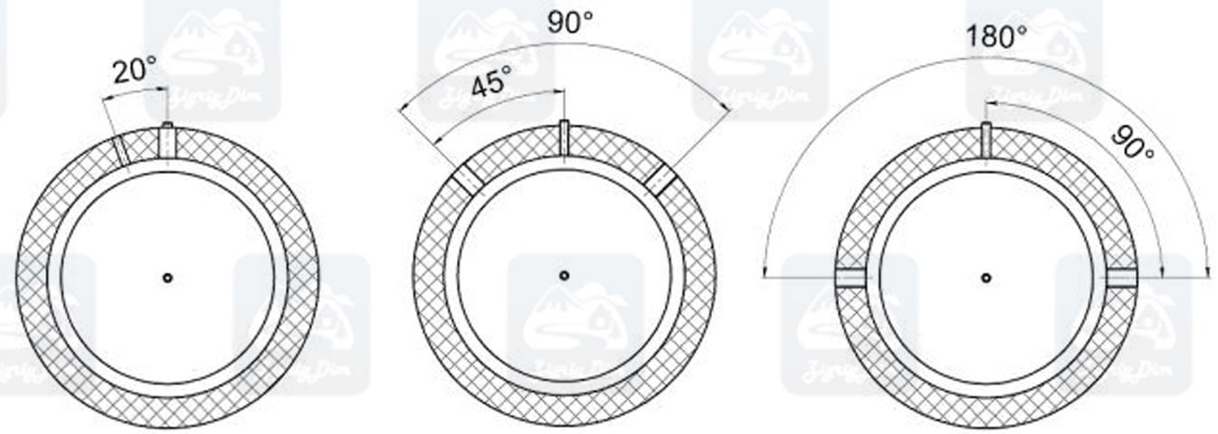 Схема размещения патрубков на теплоаккумуляторе Кронас ТА90-TA180