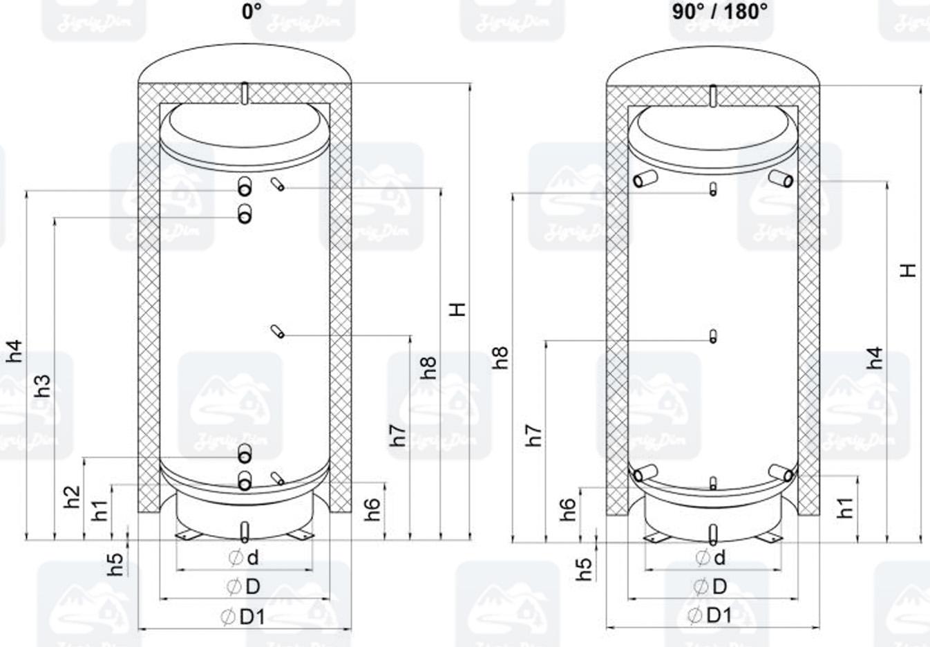 Схема теплоаакумулятора Кронас ТА90-180