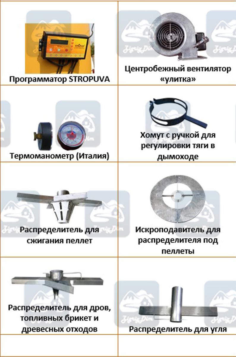 Комплектующие твердотопливного котла длительного горения Stropuva S Ideal