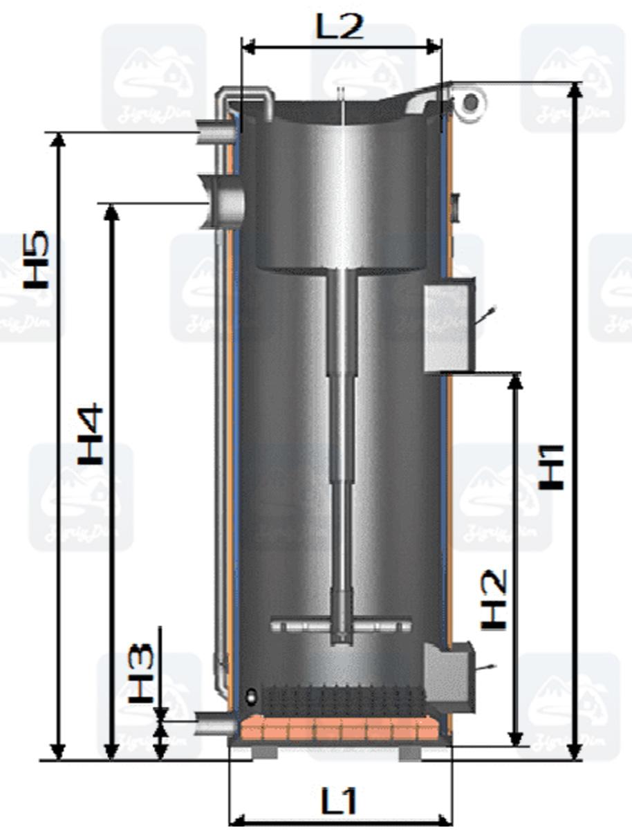 Габаритные размеры твердотопливного котла длительного горения СВаГ