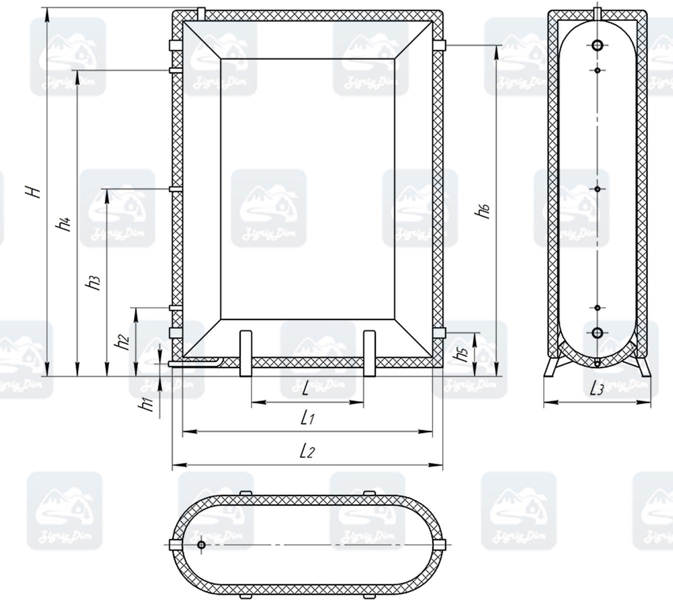 Схема теплоаккумулятора Альтеп ТАП0