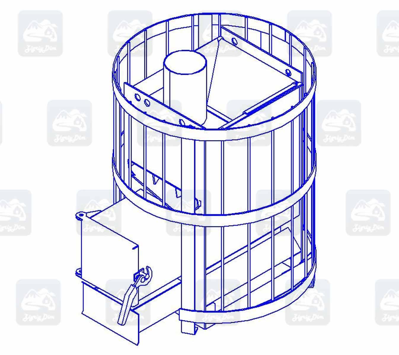 Схема банной печи Rud RS-15